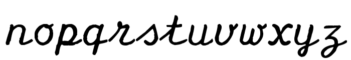 Olympia Script Font LOWERCASE