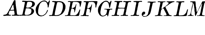 Old Times American Italic Font UPPERCASE