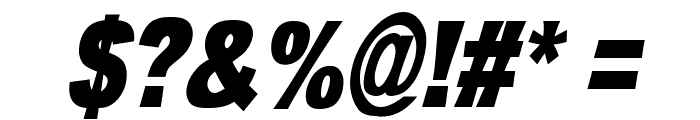 OMNIBLACK Italic Font OTHER CHARS