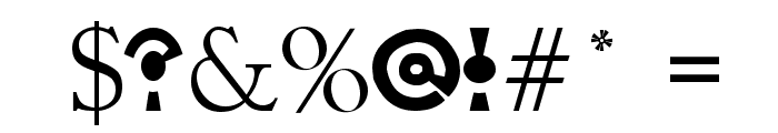 On Target Font OTHER CHARS