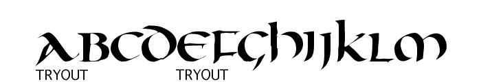 Oncial Tryout Font UPPERCASE