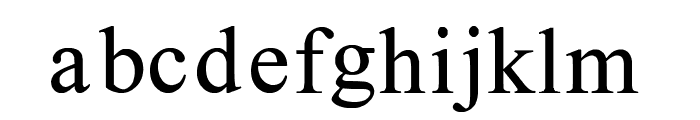 One Time Roman Font LOWERCASE