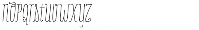 Only You Pro Light Italic Font LOWERCASE