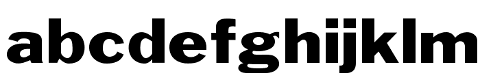 OPTIFranklinGothic-Wide Font LOWERCASE