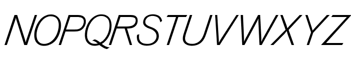 OPTIVenusLight-Italic Font UPPERCASE