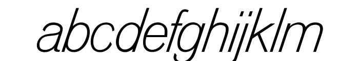 OPTIVenusLight-Italic Font LOWERCASE