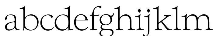 OPTIwtcGoudy-Light Font LOWERCASE