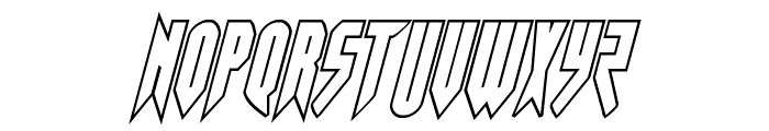 Opus Magnus Outline Condensed Italic Font LOWERCASE