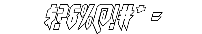 Opus Magnus Outline Italic Font OTHER CHARS