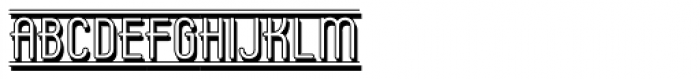 Operator Nine BTN Shadow Lined Font LOWERCASE