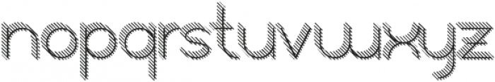 Orbicularstriped 3d otf (400) Font LOWERCASE