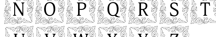 Orbi Initials Two Font UPPERCASE