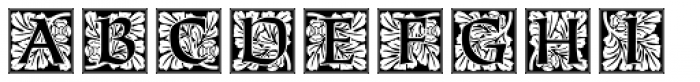 Ornate Initials Style Three Font UPPERCASE