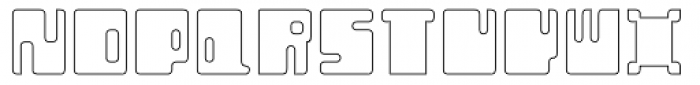 Orthotopes Hollow Font UPPERCASE