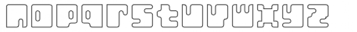 Orthotopes Hollow Font LOWERCASE