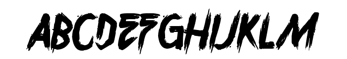 Overdrive Sunset Font LOWERCASE