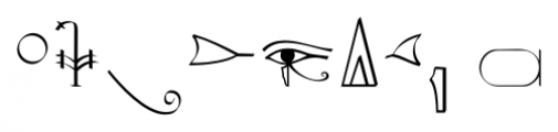 P22 Hieroglyphic Phonetic Font OTHER CHARS