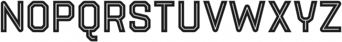 Parco Inline otf (400) Font UPPERCASE