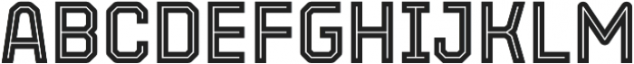 Parco Inline otf (400) Font LOWERCASE