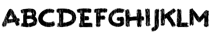 Paint the town Font UPPERCASE