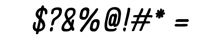 Panforte Condensed Regular Italic Font OTHER CHARS