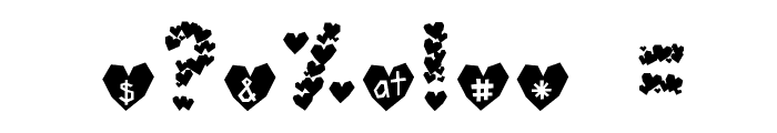 Paper Hearts Font OTHER CHARS