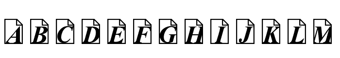 Paper Trail Font LOWERCASE