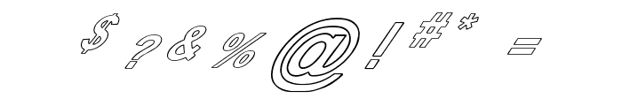 Pauls Poison Font Italic Font OTHER CHARS