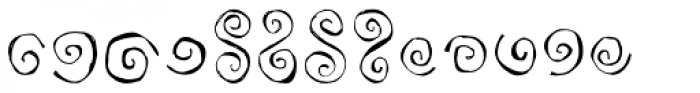 Paisley and Swirl Doodles Font LOWERCASE
