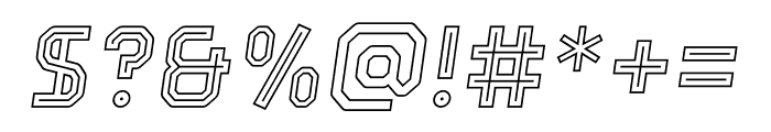 Parco Outline Inline Italic Font OTHER CHARS
