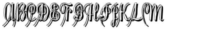 Pentagraph Shadow Font UPPERCASE