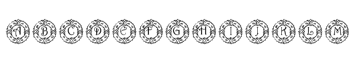 pf_wreath Font LOWERCASE