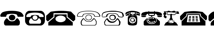 Phones NormalA Font LOWERCASE