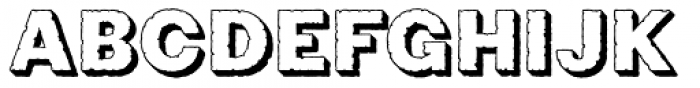 Phiz Rough Shadow Font UPPERCASE