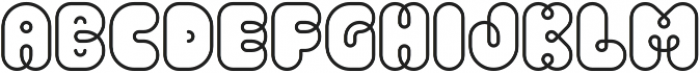 Pio Rounded Regular ttf (400) Font UPPERCASE