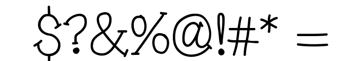 Pinwheel Font OTHER CHARS
