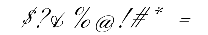 PinyonScript Font OTHER CHARS