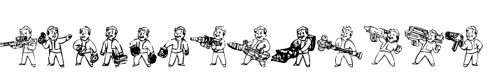 Pip Boy Weapons Dingbats Font UPPERCASE