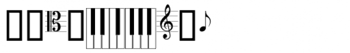 PIXymbols Musica Roman Font OTHER CHARS