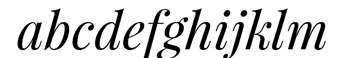 PlayfairDisplay-Italic Font LOWERCASE