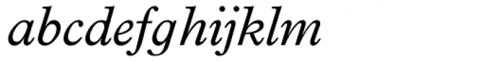 Plantin Infant Italic Font LOWERCASE