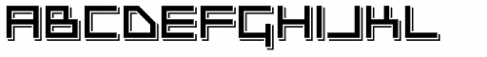 Platinum Beat BTN Raised Font UPPERCASE