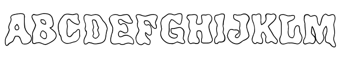 Poultrygeist Out Font UPPERCASE