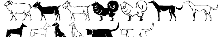 Polytype Animals Animals One Font LOWERCASE