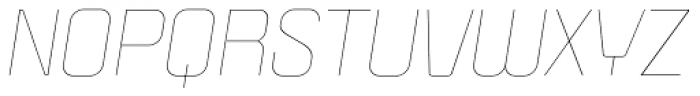 Politica Thin Italic Expanded Font UPPERCASE
