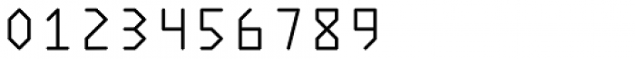 Polyline Thin Font OTHER CHARS
