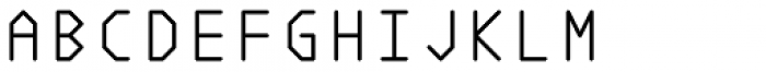 Polyline Thin Font UPPERCASE