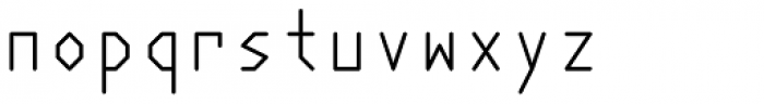 Polyline Thin Font LOWERCASE