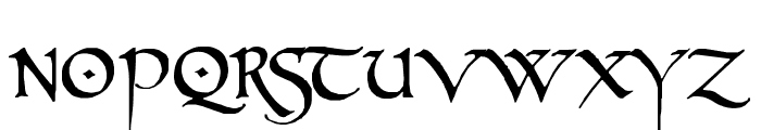 PR Celtic Narrow Font UPPERCASE