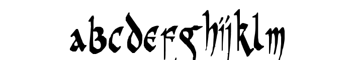 PR Celtic Narrow Font LOWERCASE